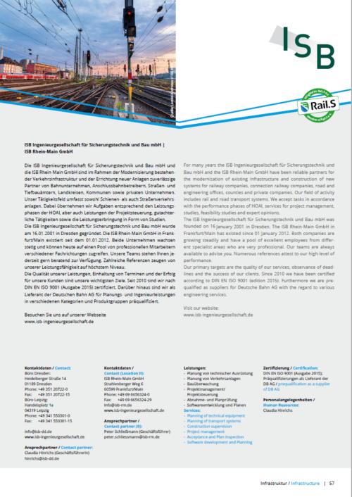 Beispiel Unternehmensvorstellung Rail.S-Branchenkatalog